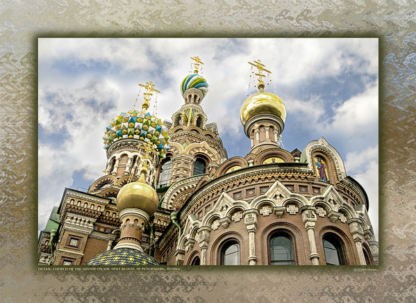 Detail, Church of the Savior on the Spilt Blood, St Petersburg, Russia