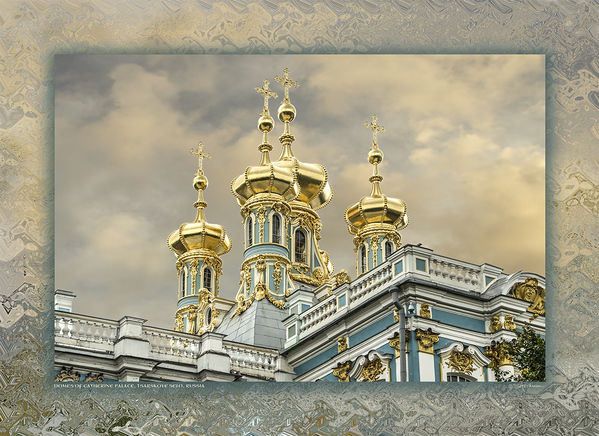 Domes of Catherine Palace, Tsarskoye Selo, Russia