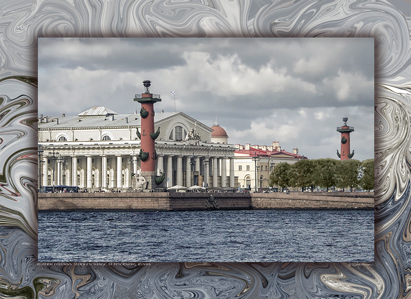 Rostral Columns, Stock Exchange, St Petersburg, Russia