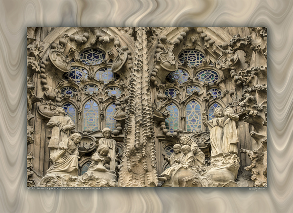 Detail, Nativity Façade, Sagrada Familia, Barcelona, Spain