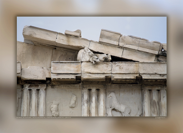 Horse Sculpture, West Pediment, Parthenon, Athens, Greece