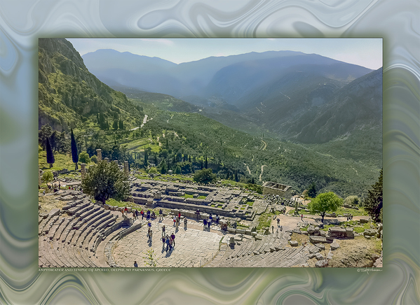 Amphitheater and Temple of Apollo, Delphi, Greece