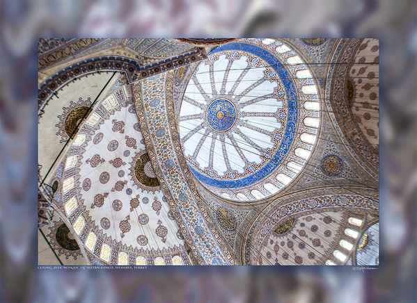 Ceiling, Blue Mosque of Sultan Ahmed, Istanbul, Turkey