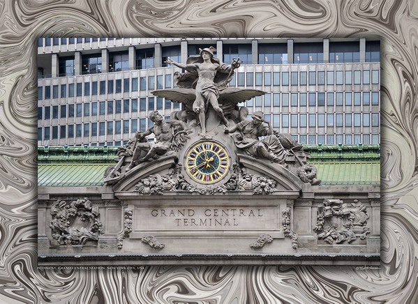 Pediment, Grand Central Station, New York City, USA