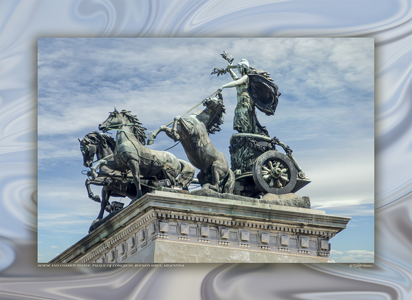 Horse & Chariot, National Congress, Buenos Aires, Argentina