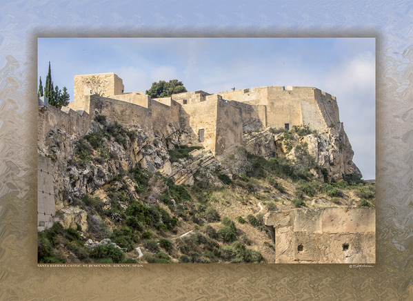 Santa Barbara Castle, Mt Benecantil, Alicante, Spain