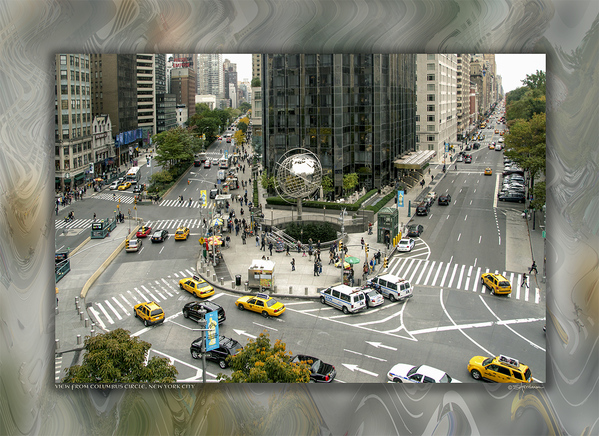 View from Columbus Circle, New York City, USA