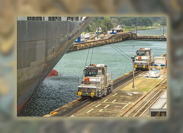 Towing Locomotives, Gatun Locks, Panama Canal, Panama
