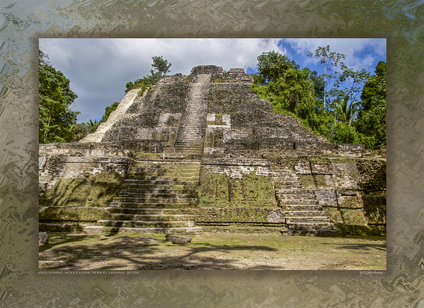 High Temple, Myan Classic Period, Lamanai, Belize