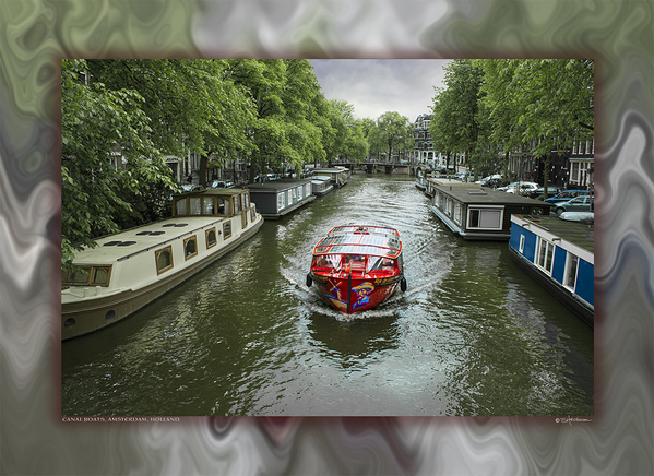 Canal Tour Boat, Amsterdam, Holland